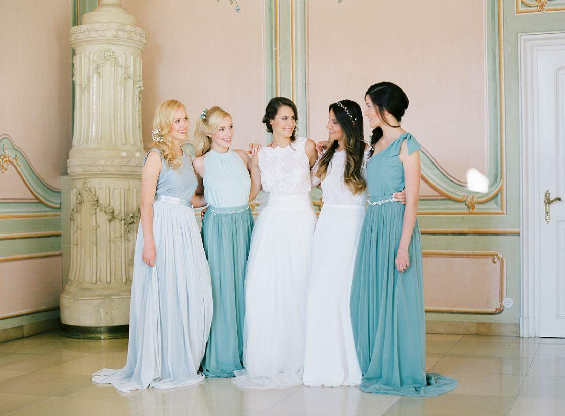 Das perfekte Kleid für die Brautjungfern bei der Hochzeit, Hochzeitsfotografie, Wien, Mödling